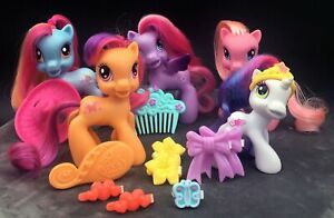 My-Little-Pony-G3-5-2010-Special-Release-Hat-Box-Target-Exc-Lot-of-5-Ponies