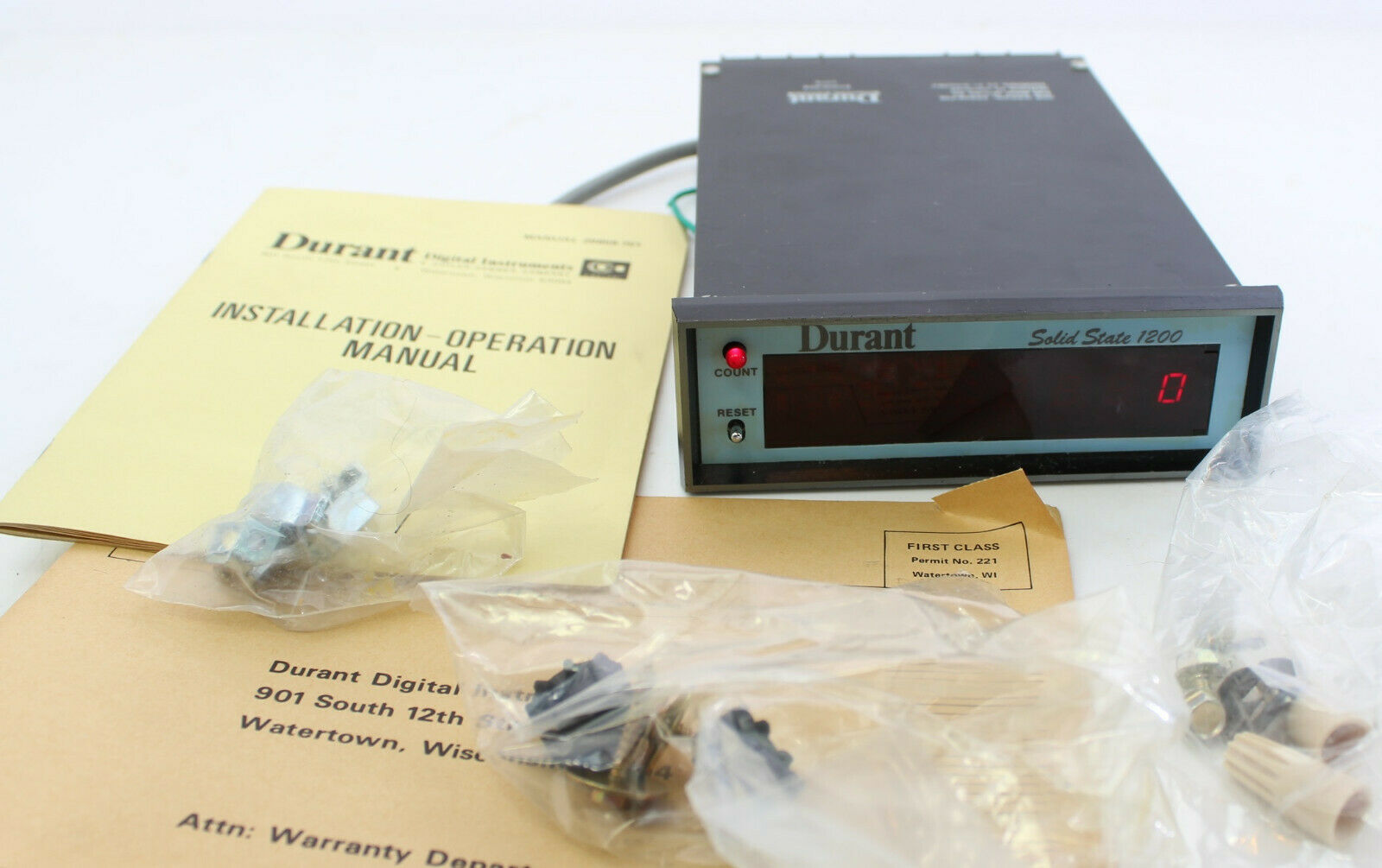 Durant Solid State 1200 51200-004 1274 Counter Totalizer Digital