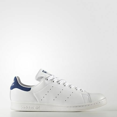 Adidas BZ0483 Men Stan smith Running shoes white bluee sneakers