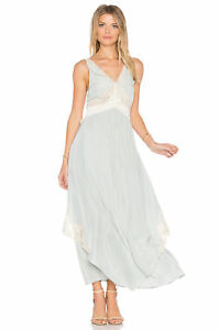 a657a203ab22 NEW Free People Baby Love Maxi Satin Lace Dress Size 12~NWT $198 | eBay