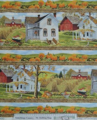 Quilting Patchwork Sewing Fabric FARM FRESH PRODUCE BORDERS Material 50x55 FQ...