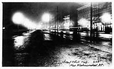 Photo. ca 1910. New Westminster, BC Canada. Columbia Street - evening