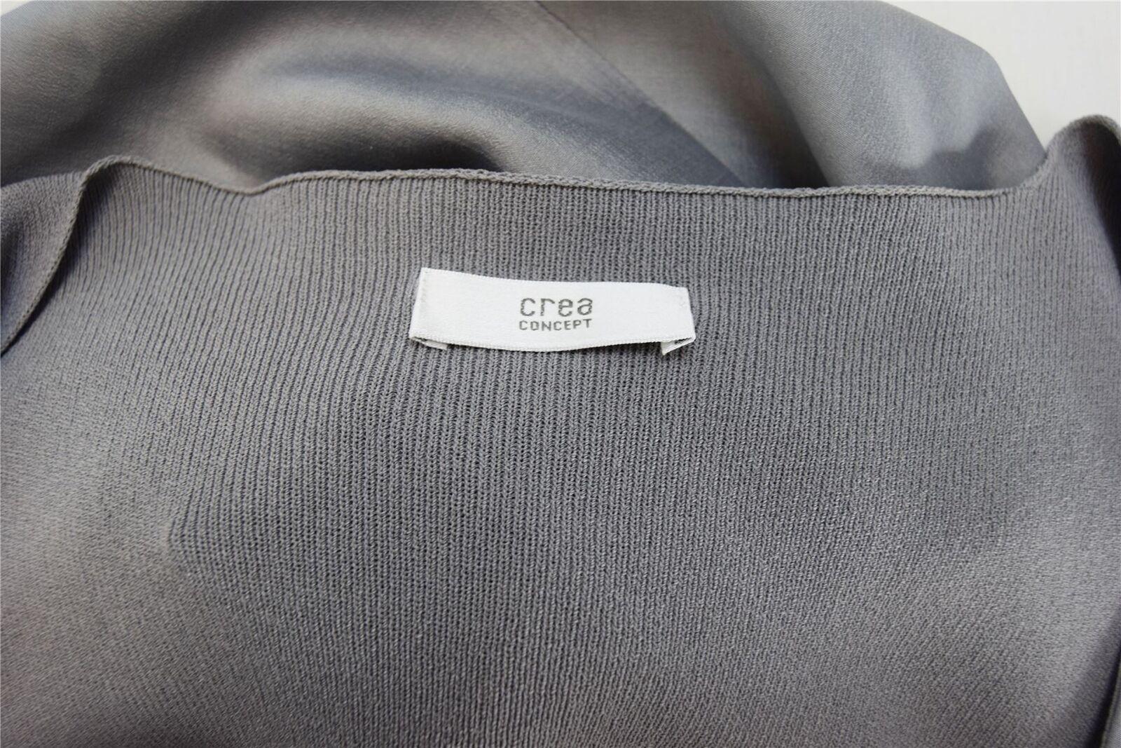 CREA CONCEPT Grey Silk Long Dress, US 8 IT IT IT 44 4bcec2