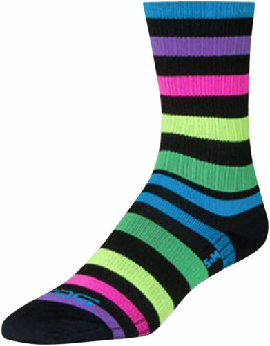 Black//Multi-Color LG//XL SockGuy SGX Night Bright Sock