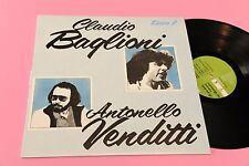 CLAUDIO BAGLIONI ANTONELLO VENDITTI LP ITALY '70 NM MAI SUONATO ! TOOOPPPPP