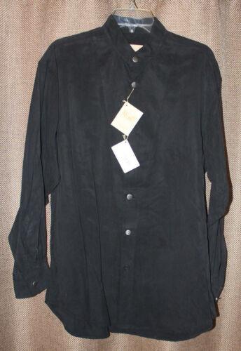 Homme Stubbs noir Tencel à manches longues Western Shirt Neuf Avec étiquettes les boutons en métal Taille 2XL