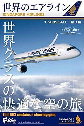 nuova esclusiva di fascia alta F-giocattoli WORLD'S Tubo Aria Serie 1 500 Scala Singapore Airlines Airlines Airlines 1 scatola 10 Kit Set  sport dello shopping online
