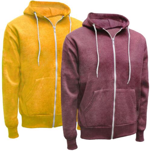 Men/'s//Kid/'s UK Lightweight Plain Zip Up Hoodie Casual Summer Zipped Sweat Hoody