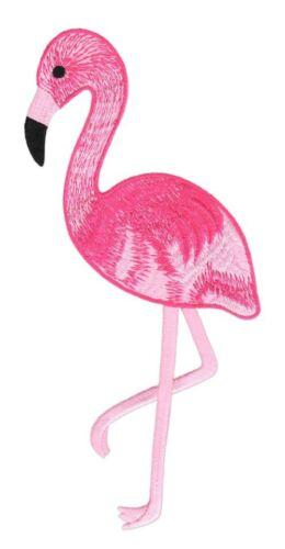 #48 Rose Flamingo Grand Oiseau Backpatch dos écusson À faire soi-même écusson 8,5 x 22 cm