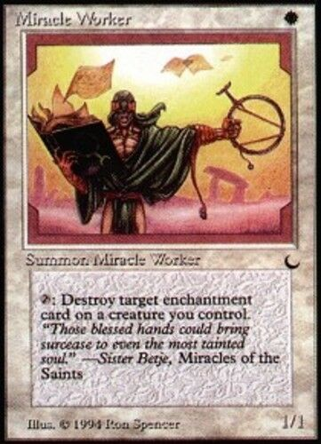 4x Miracle Worker MTG The Dark NM Magic Regular