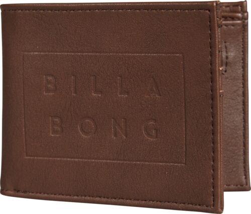 BILLABONG MENS WALLET.DIE CUT FAUX LEATHER BROWN CARD COIN NOTE PURSE 8W WM02 92