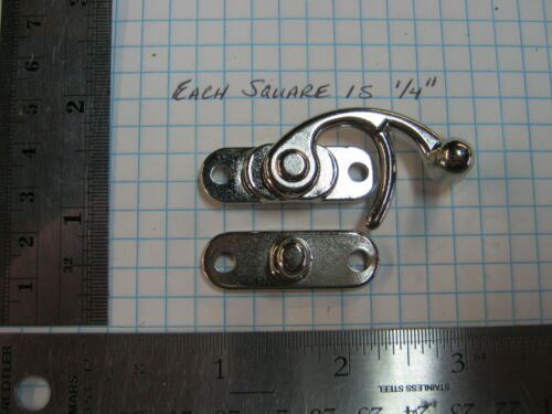 Large shiny silver colored Swing Hook BOX clasp SCA LARP strap leather work
