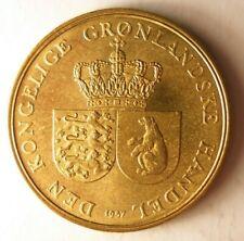 1957 GREENLAND KRONE - AU - Excellent VERY Rare Coin - Lot #Y2