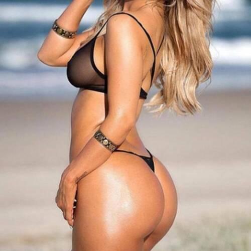 Women/'s Lingerie Mesh See Through Fishnet Bodysuit Teddy Bikini Thong YS