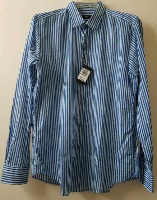 8edda3b2d HUGO BOSS RONNI Slim Fit Italian Fabric Casual Shirt Sz L Retail $175 NWT(17
