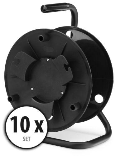 10x Pièces vide Câble d'Extension Reel Heavy Duty électrique cadre en acier poignée