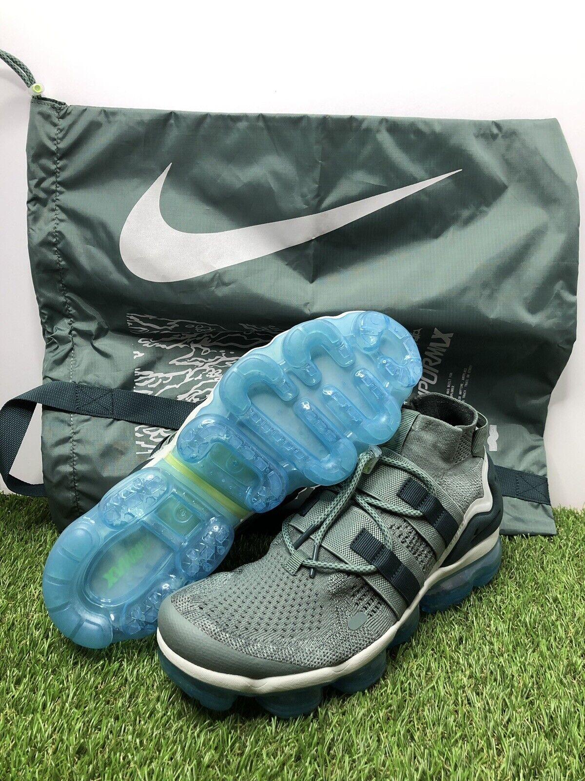 56cff8b3c2f0 NEW Nike Air Vapormax Vapormax Vapormax FK Flyknit Utility Green bluee Size  11.5 AH6834-300