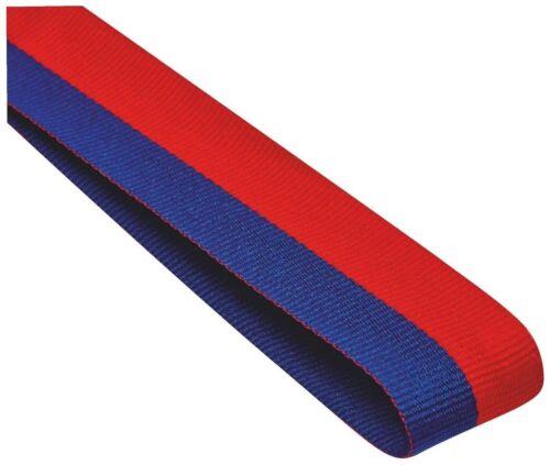 bleu or avec clip de grande valeur 22 mm large 10x Médaille Ruban//cordon rouge