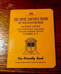 Details about Rare Rare Old Beautiful An old saving book bank account, New  York Usa 1965