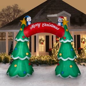 Christmas Tree Inflatables.Details About 12 Ft Christmas Tree Archway Airblown Lighted Yard Inflatable
