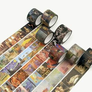 Vintage Van Gogh Washi Tape Set Masking Scrapbooking Decorative Stickers Journal