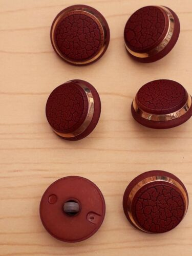 New-Dome Shank Buttons with Gold Trim 2 cm  Cardigan Jacket Dress Craft