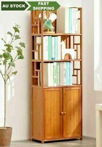 Bamboo Bookcase Bookshelf Multi-Tiers Storage Rack Shelf Office Home Furniture