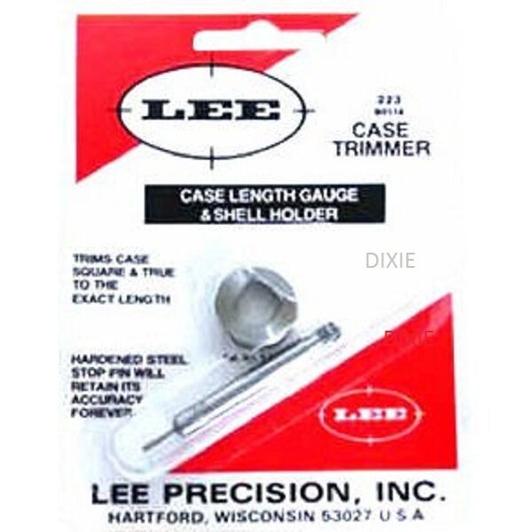 Lee CASE TRIMMER  LENGTH GUAGE AND SHELLHOLDER  22/250 remington  90116
