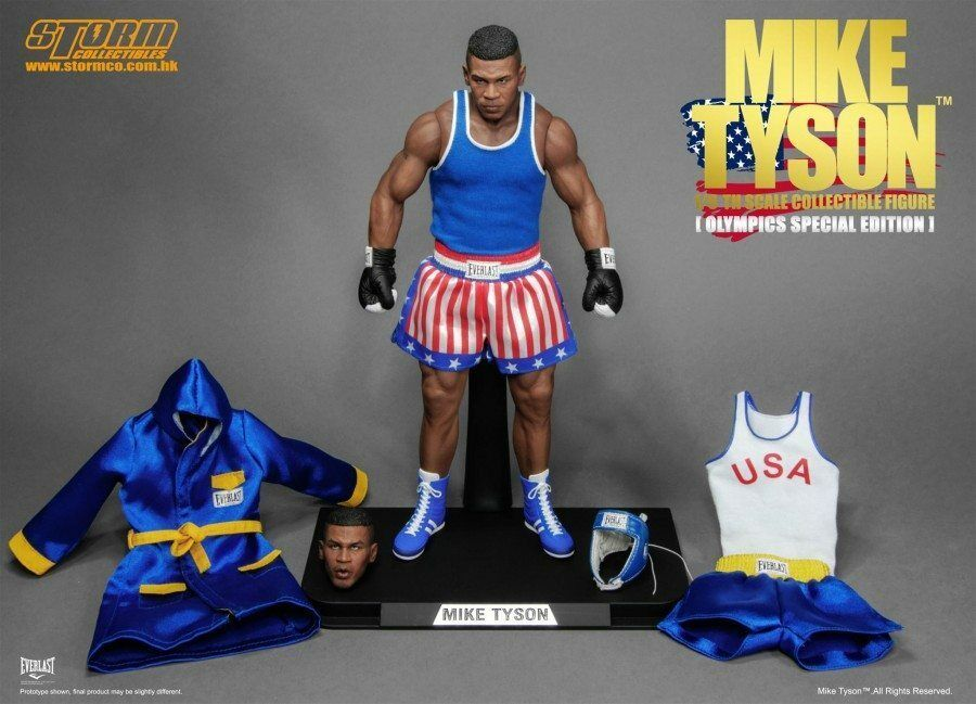 Storm Collectables  Mike Tyson Olympic Ver 16 figure with replacement parts