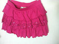 So Tiered Sequin Scooter Skirt - Girls Plus Pink Size L(14)