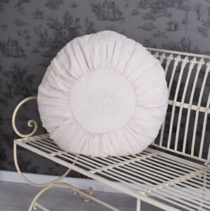 Tondo Cuscino Polvere Decorativo Shabby Chic 50cm Per Sedia Ebay