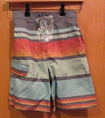 Multi-Color STRIPED BOARD SHORTS~ Boys~Size MEDIUM 10-12 ~ NEW w//tags~Joe Boxer