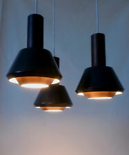 60s Leuchte Kupfer Teak copper pendant lamp Denmark Sweden Lampe teck annees 60