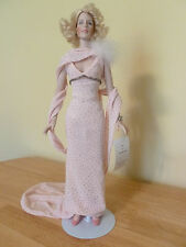 """Edith Head & Robert Tonner """"This Way Please"""" Betty Grable Porcelain Doll & Stand"""