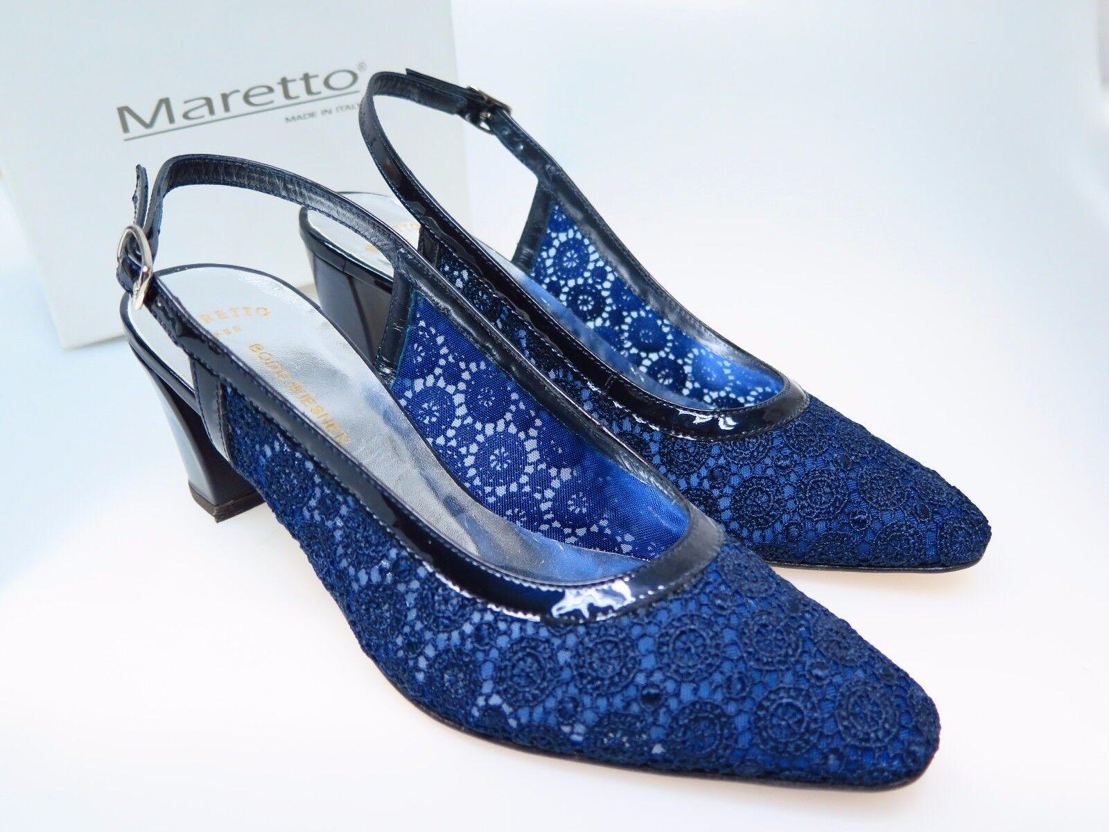 MARETTO  Designer Damenschuhe Chris 6956 Blau Vernice F57 T60F Gr. 37 NEU