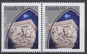 Canada-1585as-45-Christmas-Capital-Sculptures-Pair-from-Booklet-MNH