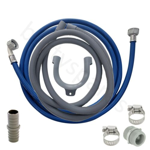 for HOTPOINT Dishwasher Fill Water /& Waste Drain Hose Extension Kit 2.5m