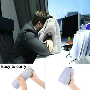 Multifunction Inflatable Air Travel Airplane Office Desk Nap Pillow