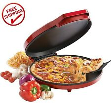 Baking Nonstick Pizza Maker Easy Oven Kitchen Fast Bake Cookies Crispy Red NEW