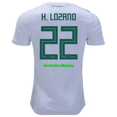 Lozano #22 Mexico 2019 Home Men/'s Soccer Jersey Green