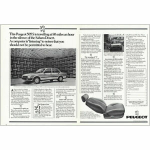 1982 Peugeot 505S: Silence of the Sahara Desert Vintage Print Ad