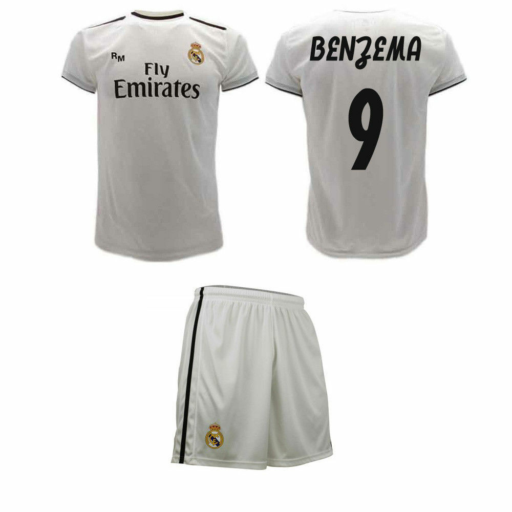 Maglia Calzoni BENZEMA Ufficiale Real Madrid 9 KARIM Camiseta 2019 REAL