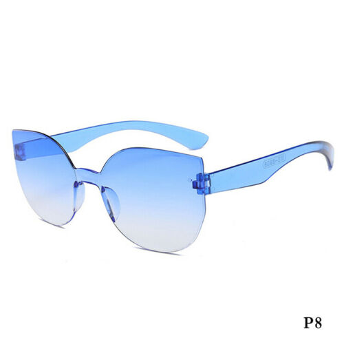 Rahmenlose transparente Sonnenbrille Männer Frauen Mode Brillen Sonnenschutz  sp