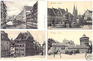 zehn-AK-Nuernberg-verschiedene-Motive-1906-1908