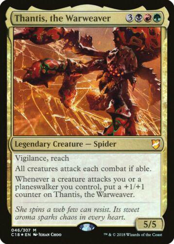 the Warweaver FOIL Commander 2018 NM-M Mythic Rare CARD ABUGames Thantis