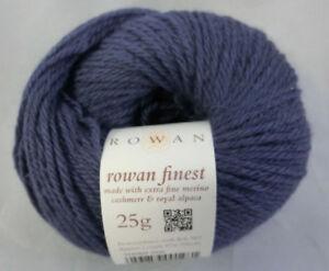35-80-100-g-25-g-Rowan-Finest-Farbe-SH-069-Star-blau-3700