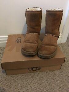 Ugg Boots Women Classic Short Chestnut Size Uk 5 5 1403506254004 Ebay