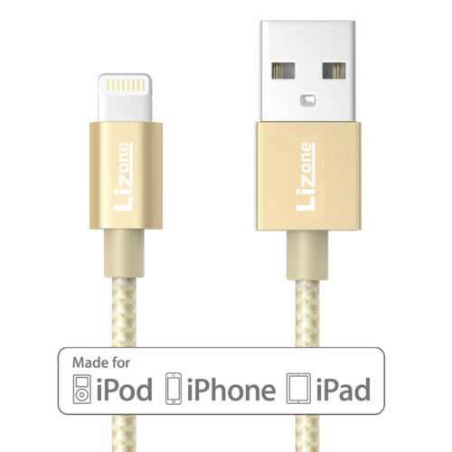 MFI Lighting Cable Charger 3.3 ft USB Charge Apple iPad iPhone X XS Max 8 7 plus
