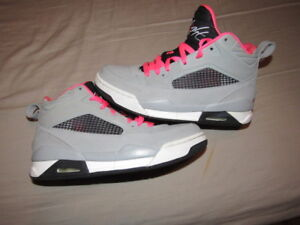 new style 0609c f36c8 Details about Nike Jordan Flight 9.5 GG 6Y Basketball Sneakers 684895-016  PINK GRAY EUC