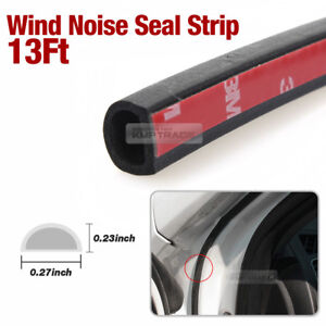 Image is loading Car-Door-Wind-Noise-Seal-D-Shape-Rubber-  sc 1 st  eBay & Car Door Wind Noise Seal D Shape Rubber Strip Molding 13Ft for ...